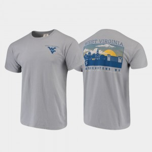 College T-Shirt WV Campus Scenery For Men Comfort Colors Gray