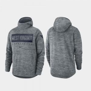 Gray Basketball For Men Spotlight WV College Hoodie