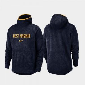 Basketball Team Logo Pullover For Men's WV College Hoodie Spotlight Navy
