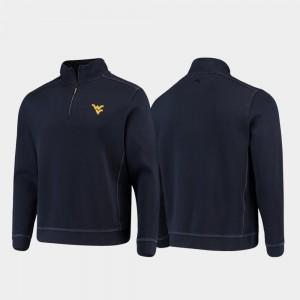 Sport Nassau College Jacket West Virginia University Navy Half-Zip Pullover Tommy Bahama Men's