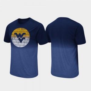 College T-Shirt Fancy Walking Dip Dye For Men Navy Mountaineers