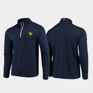 College Jacket Mountaineers Men Navy Quarter-Zip Performance Gameday