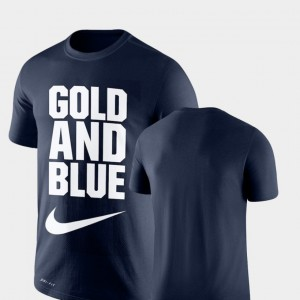 Legend Franchise Mens College T-Shirt WV Performance Navy