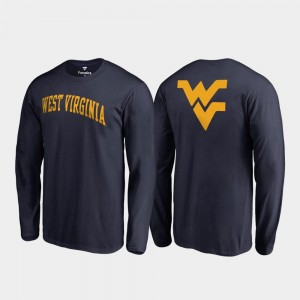Long Sleeve For Men Primetime Navy Mountaineers College T-Shirt