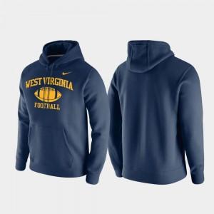 Navy College Hoodie Club Fleece Men WVU Retro Football
