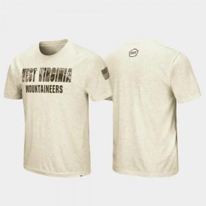 Oatmeal West Virginia University Mens Desert Camo College T-Shirt OHT Military Appreciation