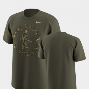 West Virginia Legend Camo Olive College T-Shirt Men's