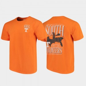 Tennessee Orange Welcome to the South WV Comfort Colors For Men College T-Shirt