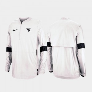 White 2019 Coaches Sideline West Virginia Mountaineers Men's College Jacket Quarter-Zip