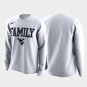 March Madness Legend Basketball Long Sleeve For Men College T-Shirt White WVU Family on Court