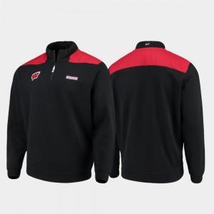 Quarter-Zip Pullover College Jacket Shep Shirt Black Men's UW