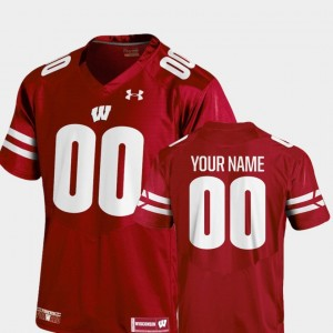 College Customized Jerseys Red Football #00 Wisconsin Badger 2018 TC Men's