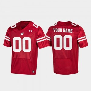 College Customized Jersey Replica Red Men Badgers #00 Football