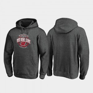 For Men's Wisconsin Badgers 2020 Rose Bowl Bound Scrimmage College Hoodie Heather Gray
