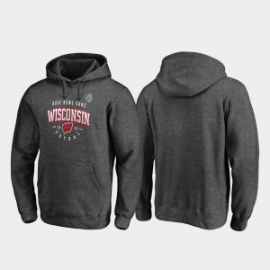 Heather Gray For Men Wisconsin College Hoodie Tackle 2020 Rose Bowl Bound