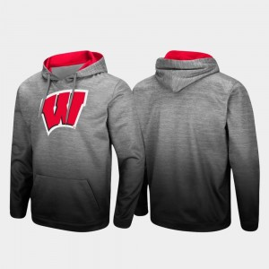 Wisconsin Badger Pullover College Hoodie Heathered Gray Men Sitwell Sublimated
