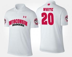 UW #20 For Men White James White College Polo