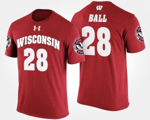 Wisconsin Badgers Red Montee Ball College T-Shirt For Men #28