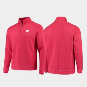 Half-Zip Pullover Tommy Bahama Sport Nassau College Jacket Badger Red For Men