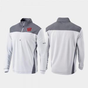 Omni-Wick Standard UW For Men's College Jacket White Quarter-Zip Pullover