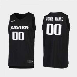 2019-20 Basketball Xavier Musketeers #00 For Men's College Custom Jersey Black Replica