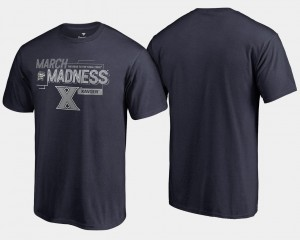 Men's Basketball Tournament Xavier 2018 March Madness Bound Airball College T-Shirt Navy