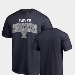 College T-Shirt Square Up For Men Navy Xavier Musketeers