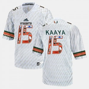 Player Pictorial #15 Brad Kaaya College Jersey UM For Men White