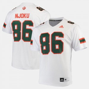 2017 Special Games White Miami #86 For Men's David Njoku College Jersey