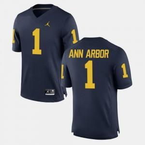 Ann Arbor College Jersey For Men's #1 University of Michigan Navy Alumni Football Game