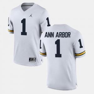 Ann Arbor College Jersey Alumni Football Game Men's Michigan #1 White