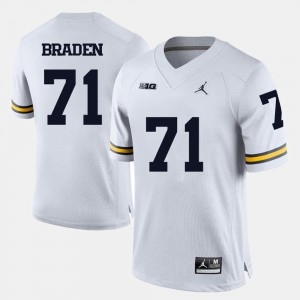 Ben Braden College Jersey For Men Football White Michigan #71