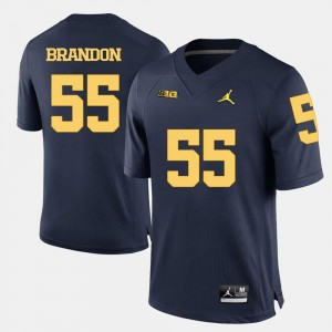 Football Navy Blue University of Michigan #55 Brandon Graham College Jersey For Men