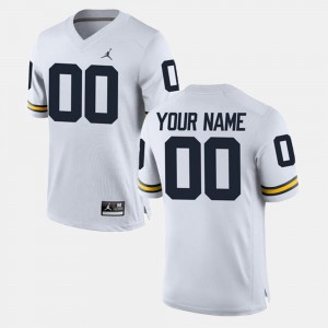 Limited Football #00 Michigan For Men's White College Custom Jerseys