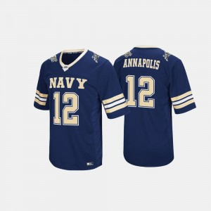 Midshipmen College Jersey Hail Mary II #12 Navy For Men's