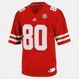 Kenny Bell College Jersey Red For Men University of Nebraska #80 Football