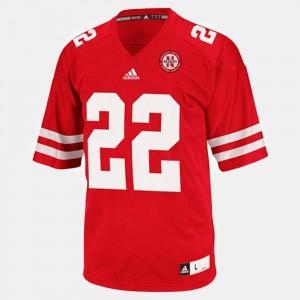 For Kids Football Rex Burkhead College Jersey #22 Red Nebraska