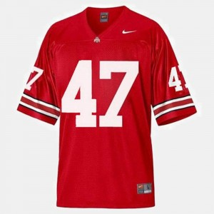 #47 Ohio State Buckeye Mens A.J. Hawk College Jersey Football Red
