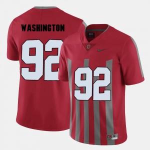 Red Men Adolphus Washington College Jersey Football #92 Buckeyes