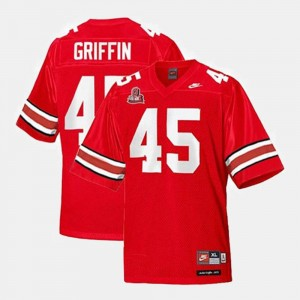 Football Archie Griffin College Jersey Men's Red Buckeyes #45