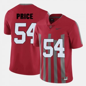 Red #54 For Men's Billy Price College Jersey Ohio State Buckeyes Football