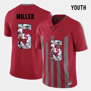 Pictorial Fashion Red #5 Ohio State Braxton Miller College Jersey Kids