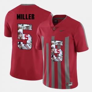 Ohio State Buckeye Red #5 Men's Pictorial Fashion Braxton Miller College Jersey