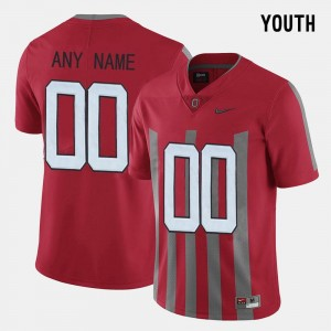 #00 Ohio State Buckeyes Throwback For Kids College Custom Jersey Red