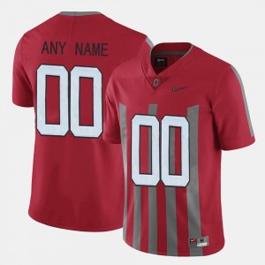 For Men #00 Ohio State College Custom Jersey Throwback Red