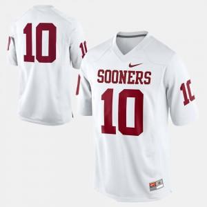 Football Sooner White #10 College Jersey For Men