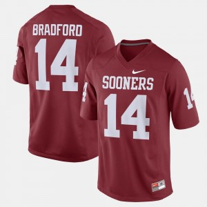 Men Oklahoma Sooners Crimson Sam Bradford College Jersey #14 Alumni Football Game