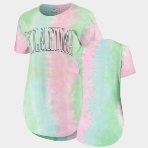 Tie Dye Rainbow College T-Shirt Women's Oklahoma Sooners Bay