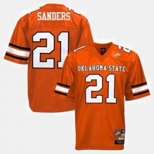 Barry Sanders College Jersey Football For Men #21 Okstate Orange