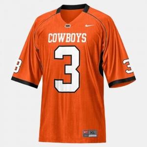 Brandon Weeden College Jersey Orange Cowboys #3 Football Kids